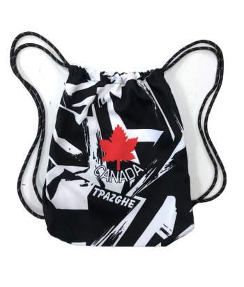 Black White Gym Sack Bag Drawstring Backpack Bag Sport Gym sackpack